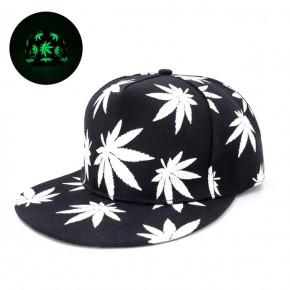 """Tamsoje šviečianti full cap kepurė """"Weed"""""""